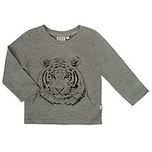 Buy Wheat Baby Tiger Print T-Shirt, Grey Online at johnlewis.com