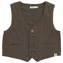 Buy Wheat Baby Woven Waistcoat, Grey Online at johnlewis.com