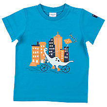 Buy Polarn O. Pyret Baby Bike Dino T-Shirt, Blue Online at johnlewis.com