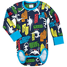 Buy Polarn O. Pyret Baby Dino Town Bodysuit Online at johnlewis.com