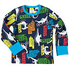 Buy Polarn O. Pyret Baby Dino Town Top Online at johnlewis.com
