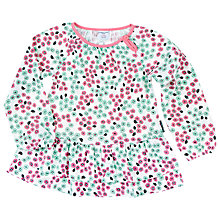 Buy Polarn O. Pyret Girls' Floral Top, White Online at johnlewis.com