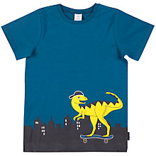 Buy Polarn O. Pyret Boys' Skate Dino Top, Blue Online at johnlewis.com