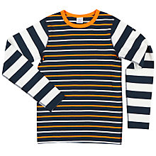 Buy Polarn O. Pyret Boys' Striped Top, Multi Online at johnlewis.com