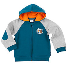 Buy Polarn O. Pyret Baby Two Tone Hoodie, Blue Online at johnlewis.com