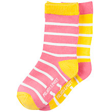 Buy Polarn O. Pyret Baby Striped Socks, Pack of 2 Online at johnlewis.com