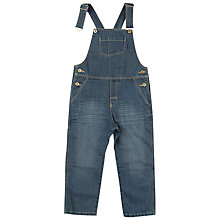 Buy Polarn O. Pyret Boys' Button Dungarees, Blue Online at johnlewis.com