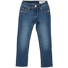 Buy Polarn O. Pyret Girls' Slim Fit Jeans, Blue Online at johnlewis.com