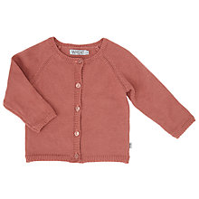 Buy Wheat Baby Knitted Cardigan, Rouge Online at johnlewis.com