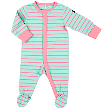 Buy Polarn O. Pyret Baby Striped Sleepsuit Online at johnlewis.com
