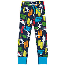 Buy Polarn O. Pyret Boys' Dino Town Trousers, Blue Online at johnlewis.com