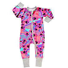 Buy Bonds Baby Poppy Art Zip Sleepsuit, Pink/Multi Online at johnlewis.com