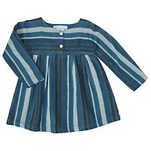 Buy Serendipity Baby Brushed Organic Dress, Blue Online at johnlewis.com
