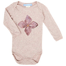 Buy Serendipity Baby Flower Motif Bodysuit, Pink Online at johnlewis.com