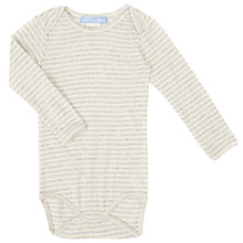 Buy Serendipity Baby Long Sleeve Striped Bodysuit, Grey Online at johnlewis.com