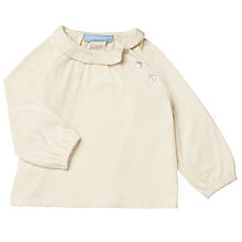 Buy Serendipity Baby Organic Cotton Jersey Shirt, Neutral Online at johnlewis.com
