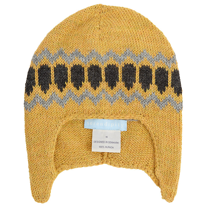 Buy Serendipity Baby Trapper Alpaca Wool Hat, Yellow, S Online at johnlewis.com