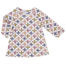 Buy Serendipity Baby Flower Print Organic Dress, Grey/Multi Online at johnlewis.com