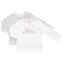 Buy John Lewis Baby Ditsy and Bunny Jersey T-Shirts, Pack of 2, White/Multi Online at johnlewis.com