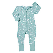 Buy Bonds Baby Constellations Zip Sleepsuit, Aqua Online at johnlewis.com