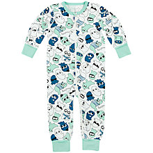 Buy Polarn O. Pyret Baby Ghost Sleepsuit, Blue Online at johnlewis.com