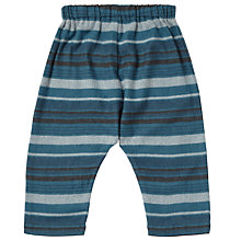 Buy Serendipity Organic Cotton Striped Baby Trousers, Blue/Multi Online at johnlewis.com