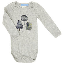 Buy Serendipity Baby Trees Ash Bodysuit, Grey Online at johnlewis.com