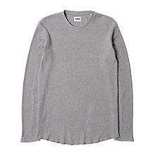 Buy Edwin Waffle Long Sleeve T-Shirt, Mid Grey Marl Online at johnlewis.com