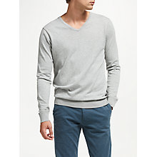 Buy Scotch & Soda Classic V-Neck Jumper, Grey Melange Online at johnlewis.com
