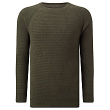 Buy Edwin Purl Knit Crew Neck Jumper, Uniform Green Online at johnlewis.com