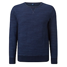 Buy Edwin College Crew Neck Jumper, Dark Indigo Online at johnlewis.com