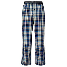 Buy BOSS Urban Woven Cotton Check Lounge Pants, Blue/Grey Online at johnlewis.com
