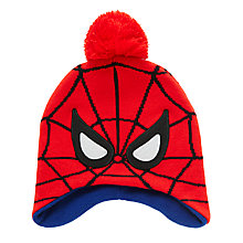 Buy Spider-Man Children's Trapper Hat, Red Online at johnlewis.com