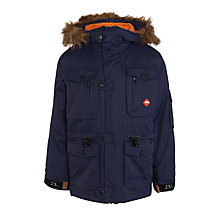 Buy Trespass Children's Avalanche Parka Jacket, Navy Online at johnlewis.com