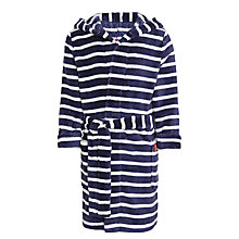 Buy Little Joule Children's Roban Striped Dressing Gown, Navy Online at johnlewis.com