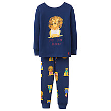 Buy Joules Children's Kipwell Lion Pyjama Set, Navy Online at johnlewis.com