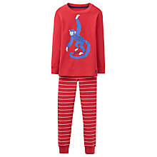 Buy Joules Children's Kipwell Monkey Pyjama Set, Red Online at johnlewis.com