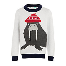 Buy John Lewis Boys' Walrus Christmas Jumper, Multi Online at johnlewis.com