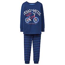 Buy Joules Children's Kipwell Bicycle Pyjama Set, Navy Online at johnlewis.com