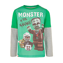 Buy LEGO Boys' Monster Long Sleeve T-Shirt, Green Online at johnlewis.com