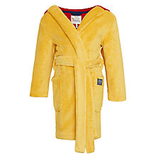 Buy Little Joule Children's Roary Lion Glow In The Dark Dressing Gown, Yellow Online at johnlewis.com