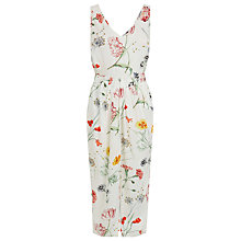 Buy Warehouse Scatter Floral Sleeveless Dress, Neutral Print Online at johnlewis.com