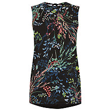 Buy Warehouse Meadow Floral Top, Black Pattern Online at johnlewis.com