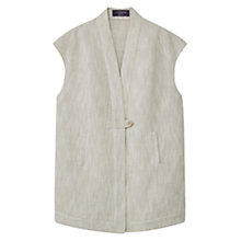 Buy Violeta by Mango Linen Cotton Vest, Light Beige Online at johnlewis.com