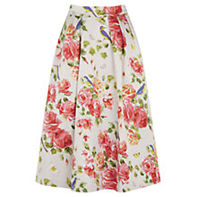 Buy Oasis Bird and Rose Print Midi Skirt, Multi Online at johnlewis.com