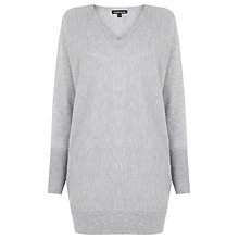 Buy Warehouse Batwing Boxy Tunic Jumper, Light Grey Online at johnlewis.com