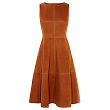 Buy Karen Millen Suede Dress, Tan Online at johnlewis.com