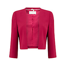 Buy Jacques Vert Sharp Edge Bolero, Dark Pink Online at johnlewis.com