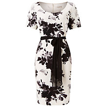 Buy Jacques Vert Printed Crepe Dress, Multi Black Online at johnlewis.com