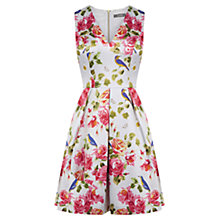 Buy Oasis Bird and Rose Print Skater Dress, Multi Online at johnlewis.com